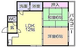 SKサンコ-諏訪野[203号室]の間取り