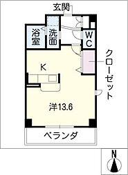 栄町パレス[1階]の間取り