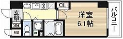 プレサンス堺筋本町フィリア[902号室]の間取り