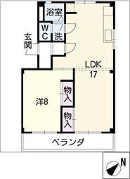 ハイツ早川[3階]の間取り