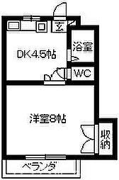 ハイツ江戸川[2階]の間取り