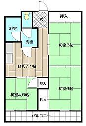 ピロ小倉II[403号室]の間取り