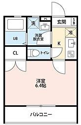 神奈川県大和市南林間3丁目の賃貸アパートの間取り