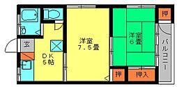 藤乃壮[201号室]の間取り