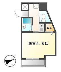ドール新栄[4階]の間取り