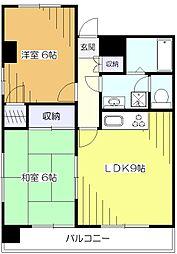 東京都東大和市清水3丁目の賃貸マンションの間取り