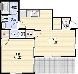 三洋ハイツ[1階]の間取り