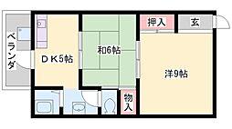 第一栄荘[110号室]の間取り