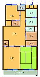 宮前マンション[602号室]の間取り