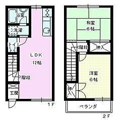 [テラスハウス] 埼玉県上尾市浅間台4丁目 の賃貸【/】の間取り