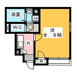 クレイノ岩倉五条[1階]の間取り