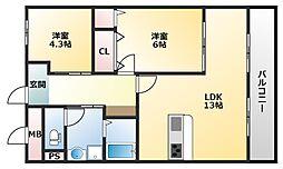板倉第一ビル[304号室]の間取り