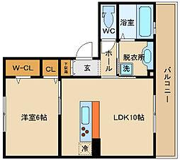 SEJOUR東太子(セジュール)[2階]の間取り