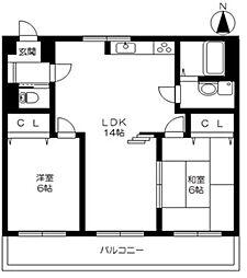 ハイグレードマンション[305号室]の間取り