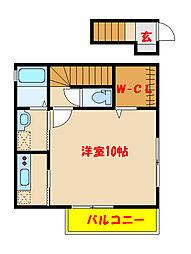 プチエミナールII1[2階]の間取り