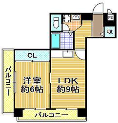 グレース大阪港[3階]の間取り