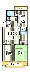 ジャスティス2番館[2階]の間取り