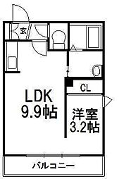 北海道札幌市豊平区豊平六条3丁目の賃貸マンションの間取り