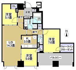 シティタワー浜松(304)[3階]の間取り