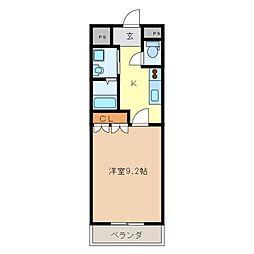 リヴァージュA棟[1階]の間取り