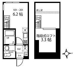 ハーミットクラブハウス日吉IIIB棟(仮)[1階]の間取り