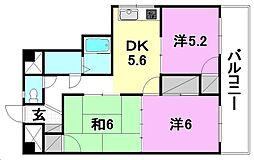 第7コートエル[603 号室号室]の間取り