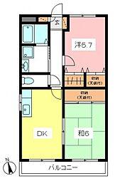東京都世田谷区砧7丁目の賃貸マンションの間取り
