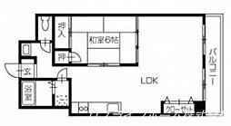 キングハイツ[3階]の間取り