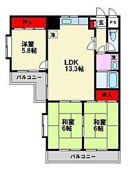 玉川マンション[1階]の間取り