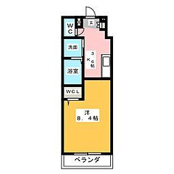 仮称 横井町計画案 1階1Kの間取り