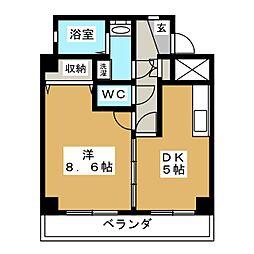 ヒルズ雅[3階]の間取り