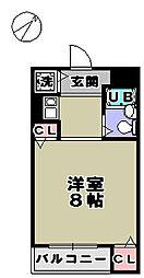 サニーコート新在家[4階]の間取り
