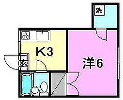 ペンション大手町[402 号室号室]の間取り