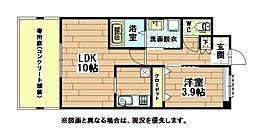福岡県北九州市八幡西区永犬丸東町2丁目の賃貸アパートの間取り