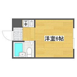 ベルシャトー南加賀屋[2階]の間取り