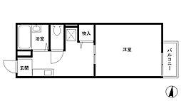 コーポラス友松[1階]の間取り