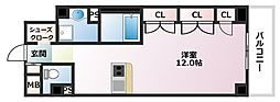 Xing CUBE ONE 4階1Kの間取り
