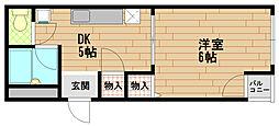 アクセスコート[5階]の間取り