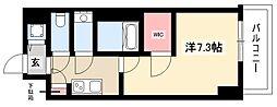 エスリード新栄デュオ 10階1Kの間取り