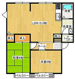 サンハイツふじ[B205号室]の間取り