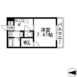 K's Residence瓢箪山(ケーズレジデンス)[202号室号室]の間取り