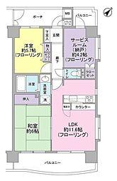 新横浜サニーコート[11階]の間取り