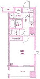 神奈川県川崎市高津区溝口1丁目の賃貸マンションの間取り