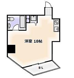 是空NANBAII[7階]の間取り