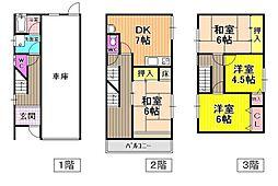 [一戸建] 大阪府羽曳野市古市 の賃貸【/】の間取り