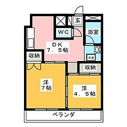 阿久井大工町ビル[4階]の間取り