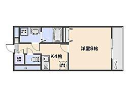 竹田ビル弐番館[2階]の間取り