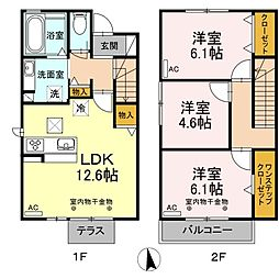 D-room神田町[2階]の間取り