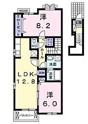 ブランシェII[2階]の間取り