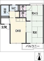 アトウレ蟹江[1階]の間取り